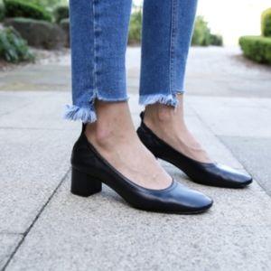 Everlane black leather 'The Day Heel' shoeSZ 8.5/9